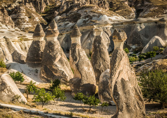 The Fairy Chimneys in Turkey.