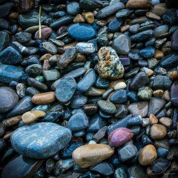 Full Frame Shot Of Wet Pebbles