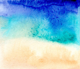 Abstract background sea shore landscape blue beige