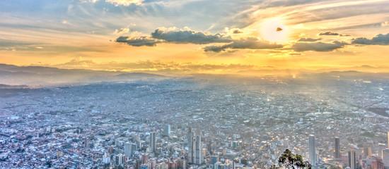 Papiers peints Amérique du Sud Sunset over Bogota, Colombia, HDR Image