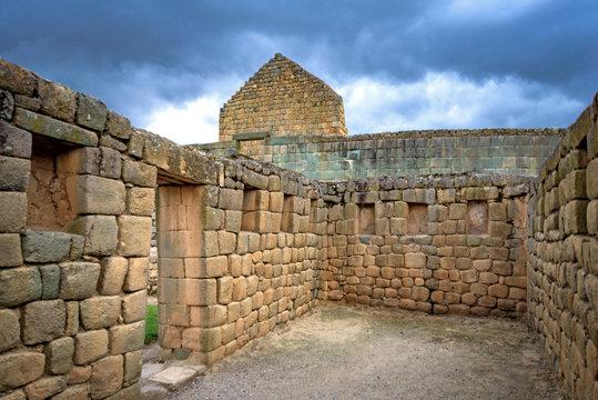 Ancient Ingapirca ruins in the Azuay province, close to Cuenca, Ecuador. The largest Inca ruins in Ecuador