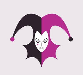 Design of funny jester illustration