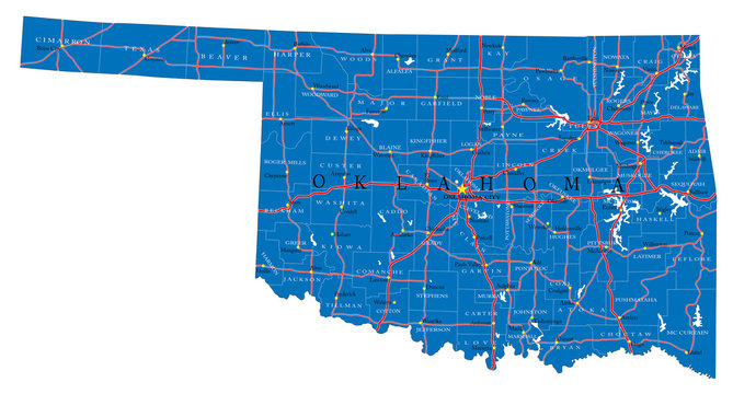 Oklahoma state political map