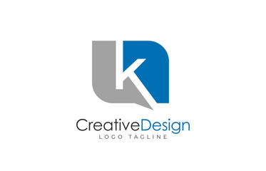 Letter k logo design template. Simple and clean flat design of letter k logo vector template.