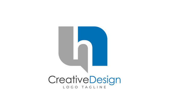 Letter h logo design template. Simple and clean flat design of letter h logo vector template.