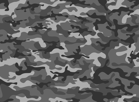 Camouflage winter classic horizontal. vector design