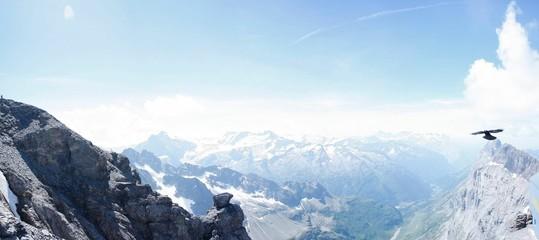 Fototapeten Licht blau High Angle View Of Rocky Landscape Against Sky