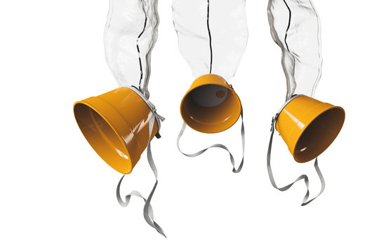 oxygen masks on a white background / 3D illustration