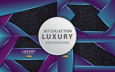 luxury premium purple vector background banner design,can be used in cover design, poster, flyer, book design Wall mural