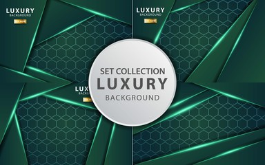 luxury premium green vector background banner design,can be used in cover design, poster, flyer, book design Wall mural