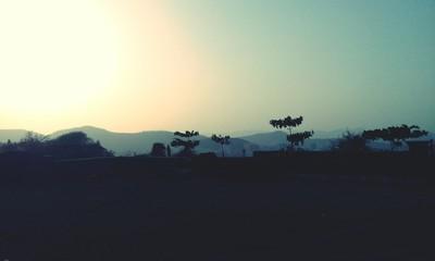 Foto auf Gartenposter Grau Verkehrs Scenic View Of Landscape Against Sky