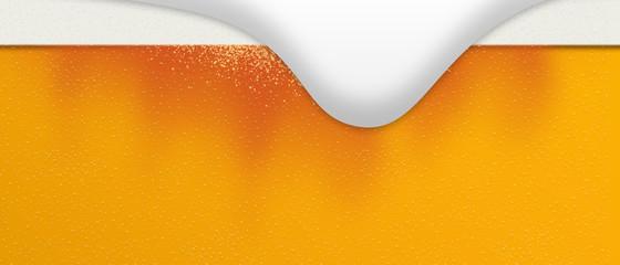 Beer foam. The beer bubbles burst. Alcohol bubbles. 背景:夏 ビール 泡 あわ お酒 生 生ビール しずる感 アルコール 発泡酒 Wall mural