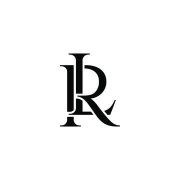 lr letter original monogram logo design