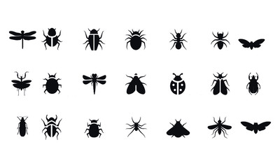 Insect icon set vector design