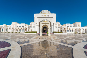 Outside view of Abu Dhabi presidential Palace