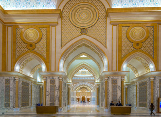 Inside view of Abu Dhabi presidential Palace