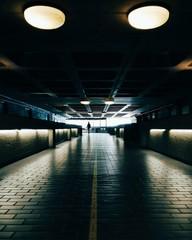 Illuminated Corridor At Barbican Centre