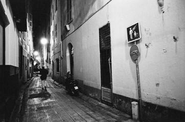 Keuken foto achterwand Smal steegje Narrow Alley Along Buildings