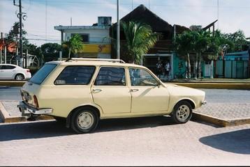 Türaufkleber Autos aus Kuba Car On Street