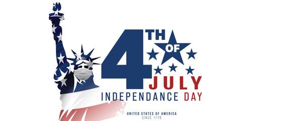 4th of July, USA celebration of Independence day -  Banner illustration