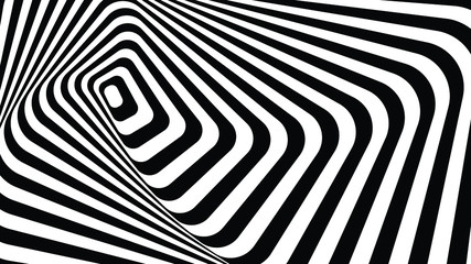 Fototapeta premium Abstract spiral background.Optical illusion of torsion and rotation movement. For business brochure, wall paper, prints, flyer party, design banners and cover