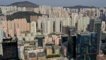 Fotomurales - Top view of Hong Kong city