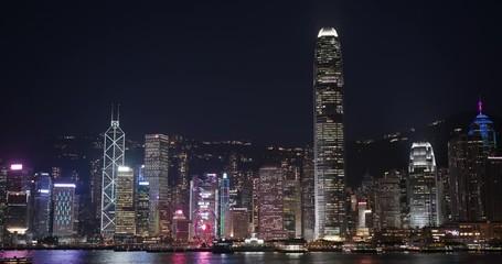 Wall Mural - Hong Kong night
