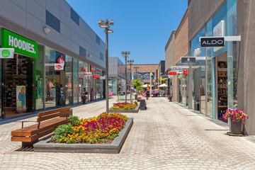 Modern shopping center in Israel.