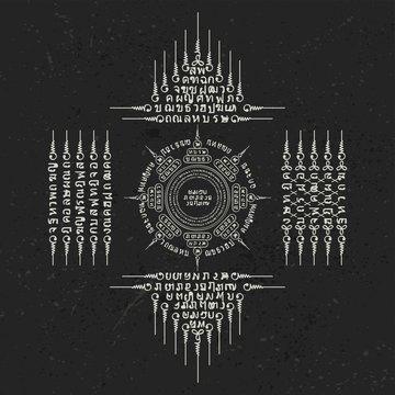 Muay Thai white sacred symbol background