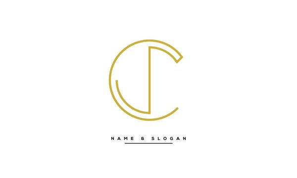 CJ ,JC ,C ,J  letters  abstract logo monogram