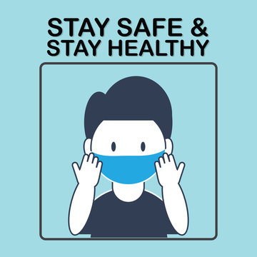 Stay safe stay healthy banner.