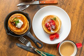 パンケーキセット Very delicious homemade pancake set