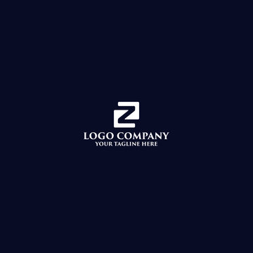 modern minimalist Z logo with source file for web business
