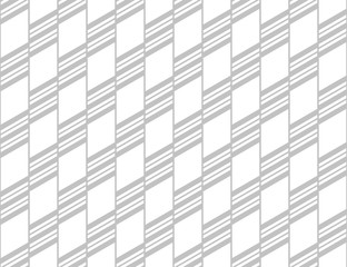 Fotorolgordijn Geometrisch Abstract geometric pattern with stripes, lines. Seamless vector background. White and grey ornament. Simple lattice graphic design.
