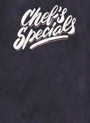 Chef's specials. Chalkboard menu.