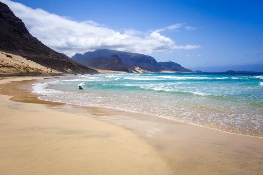 Baia das Gatas beach on Sao Vicente Island, Cape Verde