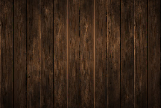 Empty  wooden background for product display. Vector abstract. Highly realistic illustration.