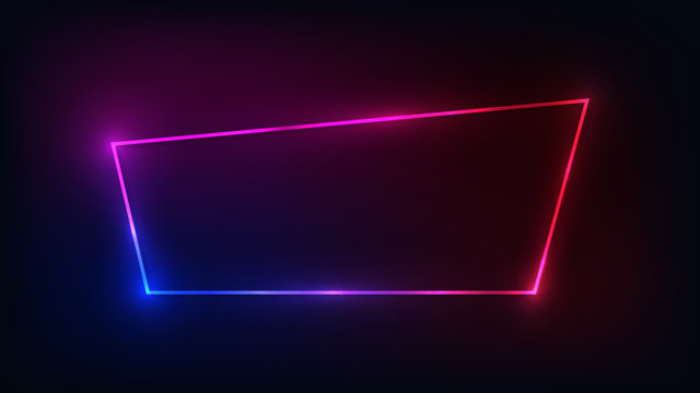 Neon frame with shining effects