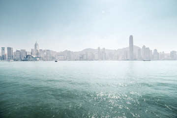 Fotomurales - sunny Hong Kong harbour, China