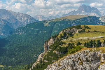 Wall Mural - Mountain Range Of Italian Dolomites.