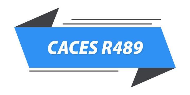 caces r489 bannière
