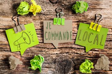 post it vert : je commande local