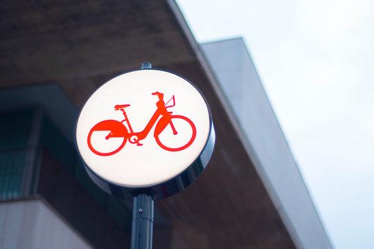 Bicing Barcelona bike transport logo
