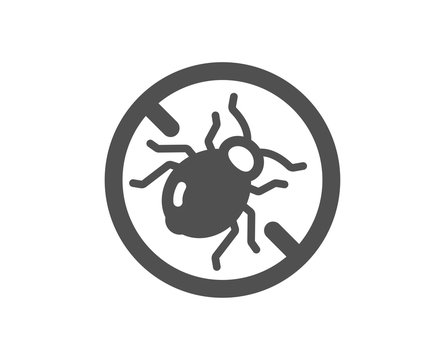 Mattress bed bugs icon. Hypoallergenic sign. Anti-allergic symbol. Classic flat style. Quality design element. Simple bed bugs icon. Vector