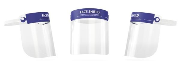 Obraz Face shield 3D medical visualization, Surgical equipment - fototapety do salonu