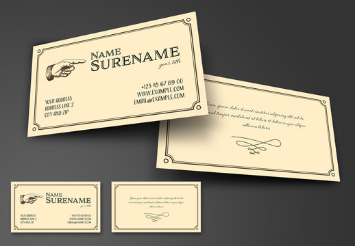 Retro Vintage Business Card Layout
