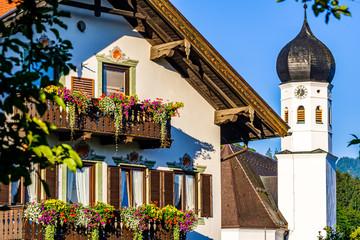 Wall Mural - typical old bavarian farmhouse