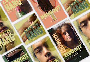 Virtual Hangouts Social Media Set