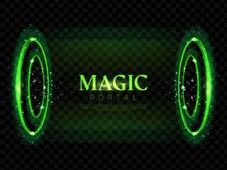 Fantasy magic portal futuristic hologram teleport Wall mural