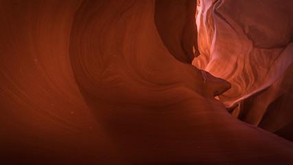Foto auf Gartenposter Violett rot Lower Antelope Canyon, Arizona, US. In the heart of Lower Antelope Calyon